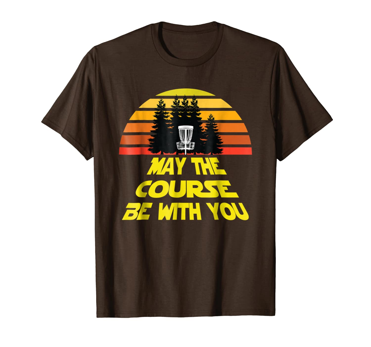 Disc Golf Shirt May The Course Be With You Frolf Shirt-TH