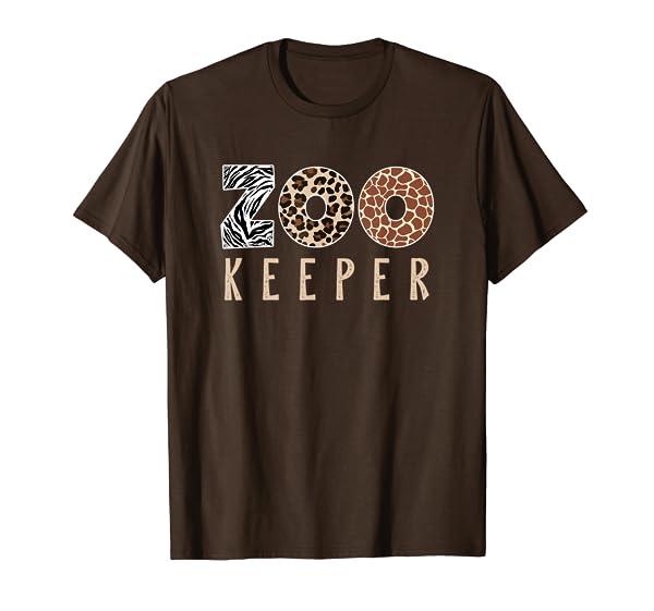 African Savanna Zoo Animal Costume   Zookeeper T-Shirt