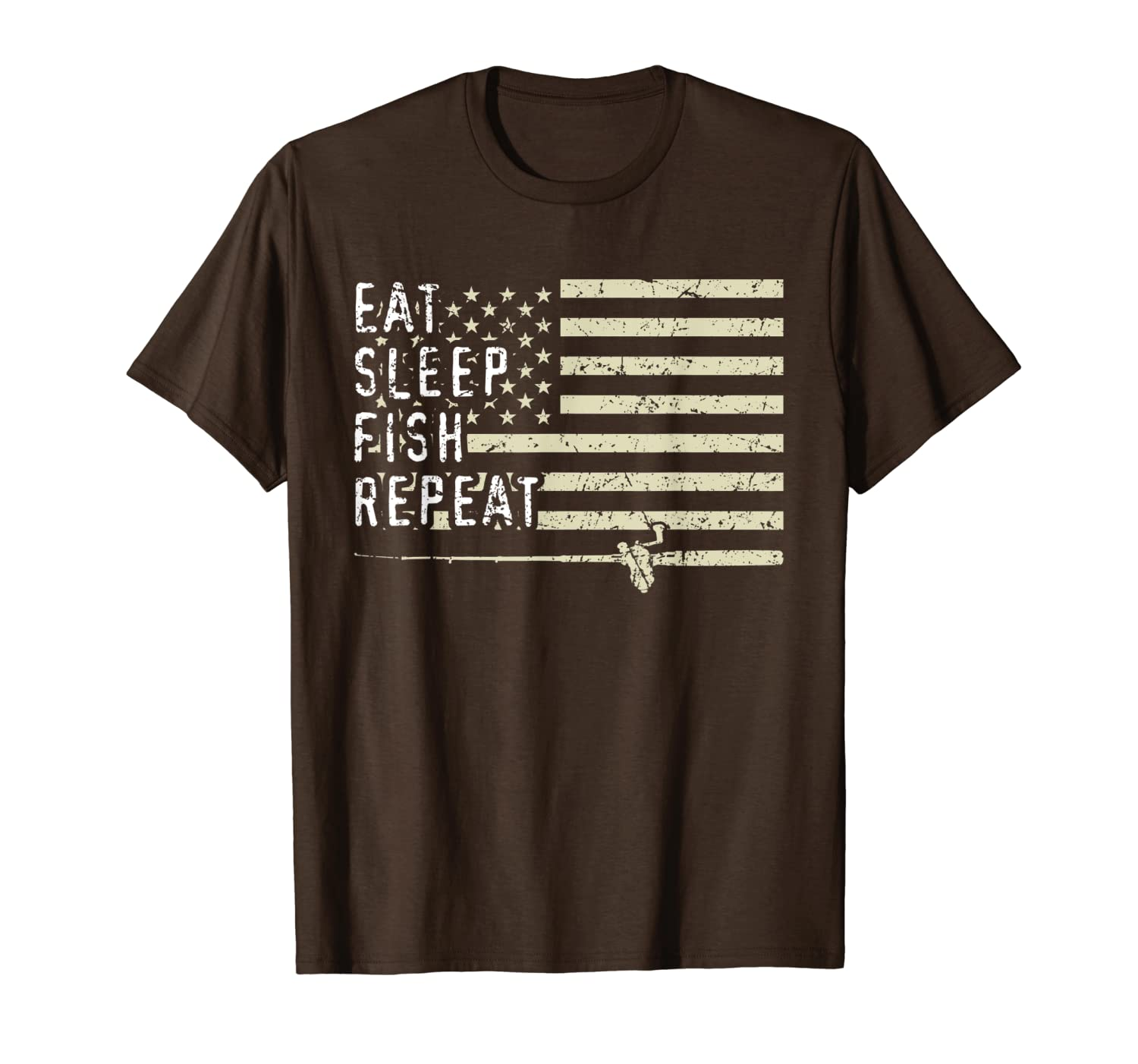 Eat Sleep Fish Repeat Funny Bass Fishing Fathers Day Gifts T-Shirt LongSleeve Tee