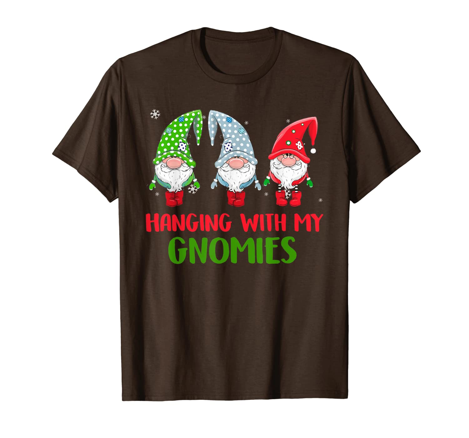 Hanging With My Gnomies Santa Gnome Christmas Costume T-Shirt-TH