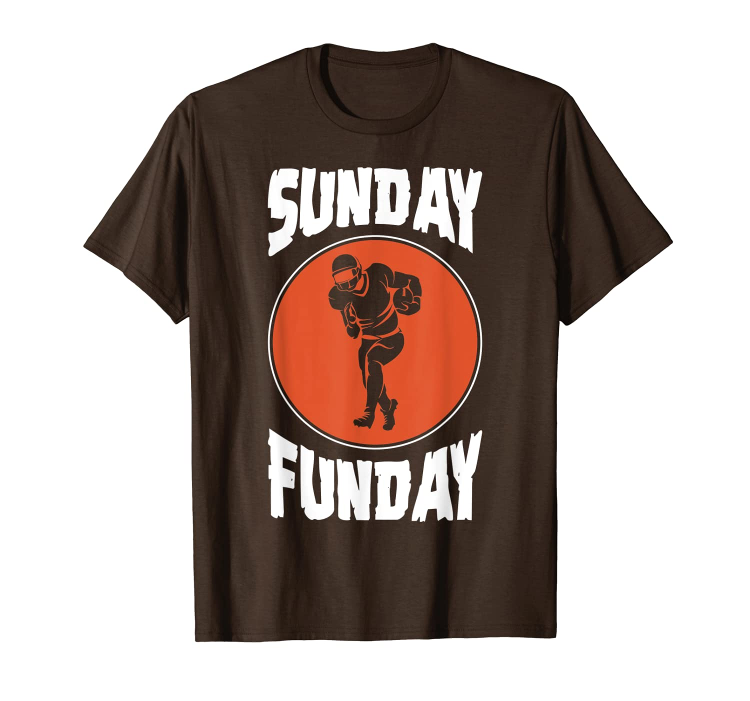 Sunday Funday Football Player Novelty T-Shirt-ANZ