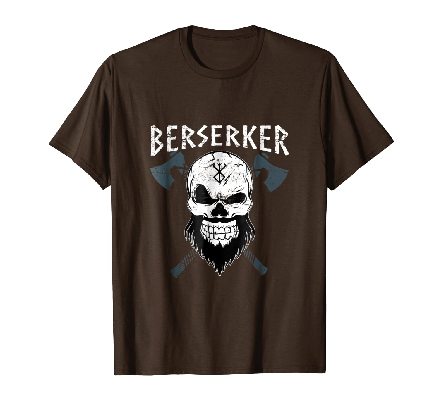 Berserker Viking T Shirt With Vikings Axes North Heritage-TH