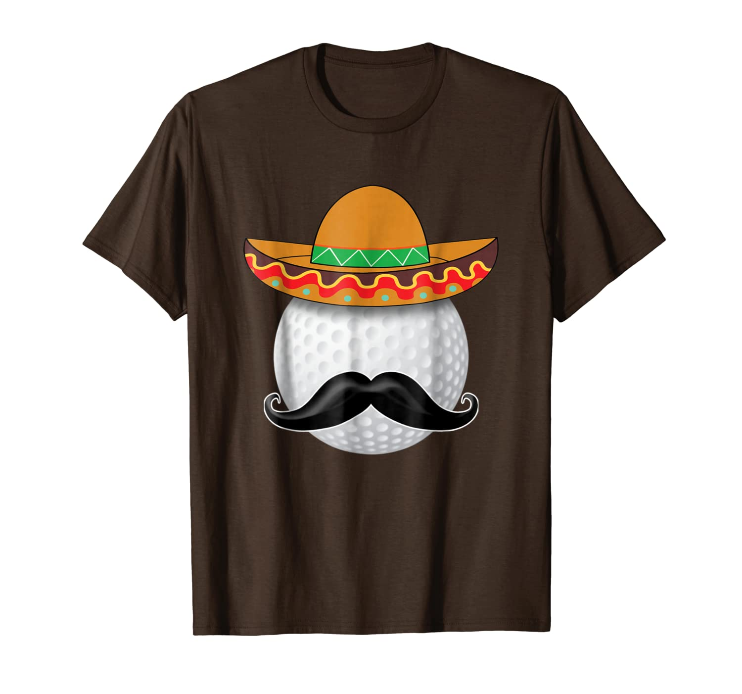 Funny Golf Ball Mustache Mexican Sports Mexico Party Shirt-TH