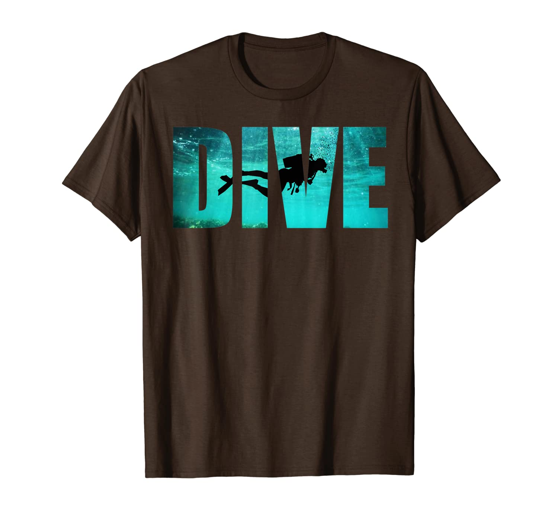 Scuba Diving: Divers Shadow Deep Swim T-Shirt Cool Gift Unisex Tshirt