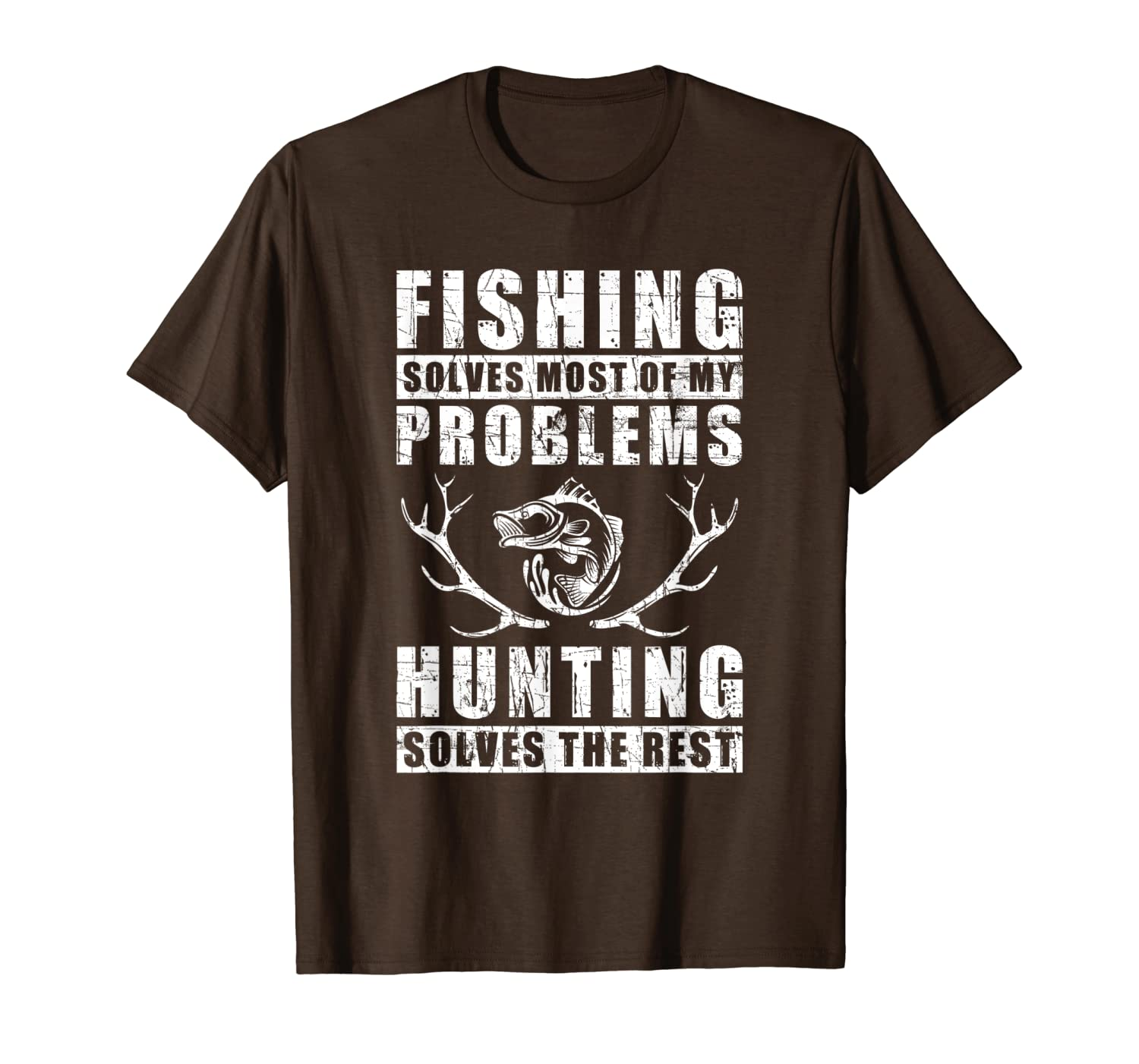 Fishing Solves Most Of My Problems Hunting Quote Gift T-Shirt LongSleeve Tee