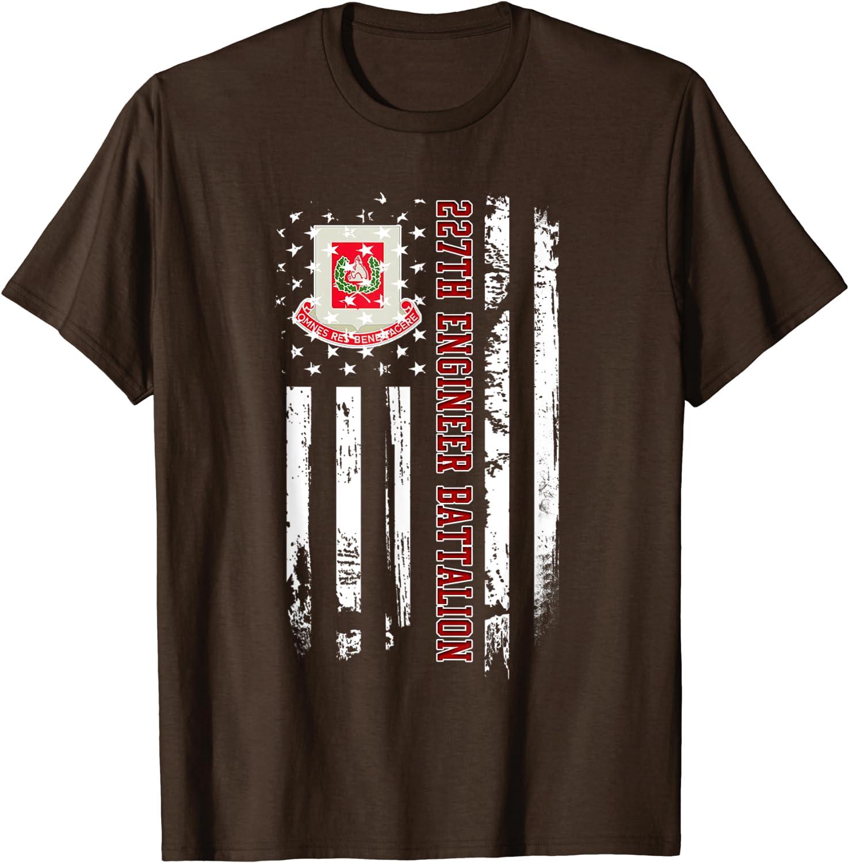 27th Engineer Battalion Veteran USA Flag Veterans Day Xmas T-Shirt-TH
