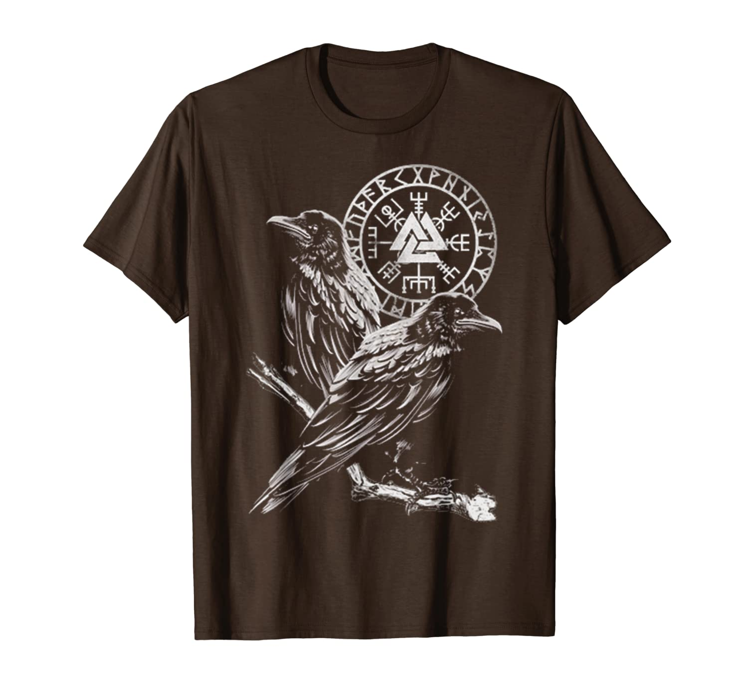 Hugin And Munin Norse Mythology Ravens Of Odin Vikings T-Shirt-TH