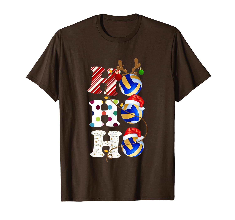 Ugly Sweater Volleyball Santa Claus HO HO HO Christmas T-Shirt