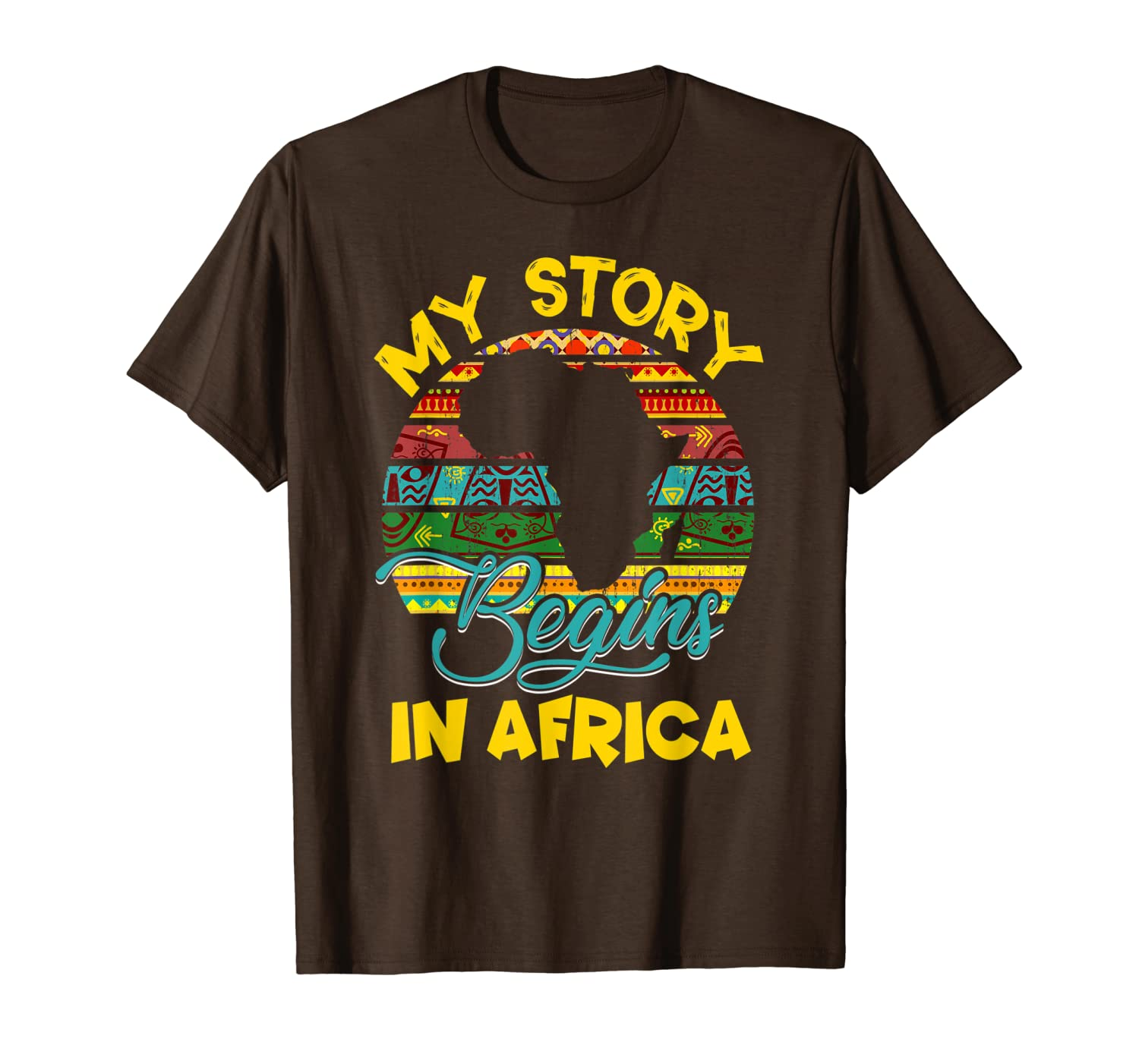 Story Begins In Africa Pride African-American History Month T-Shirt Unisex Tshirt