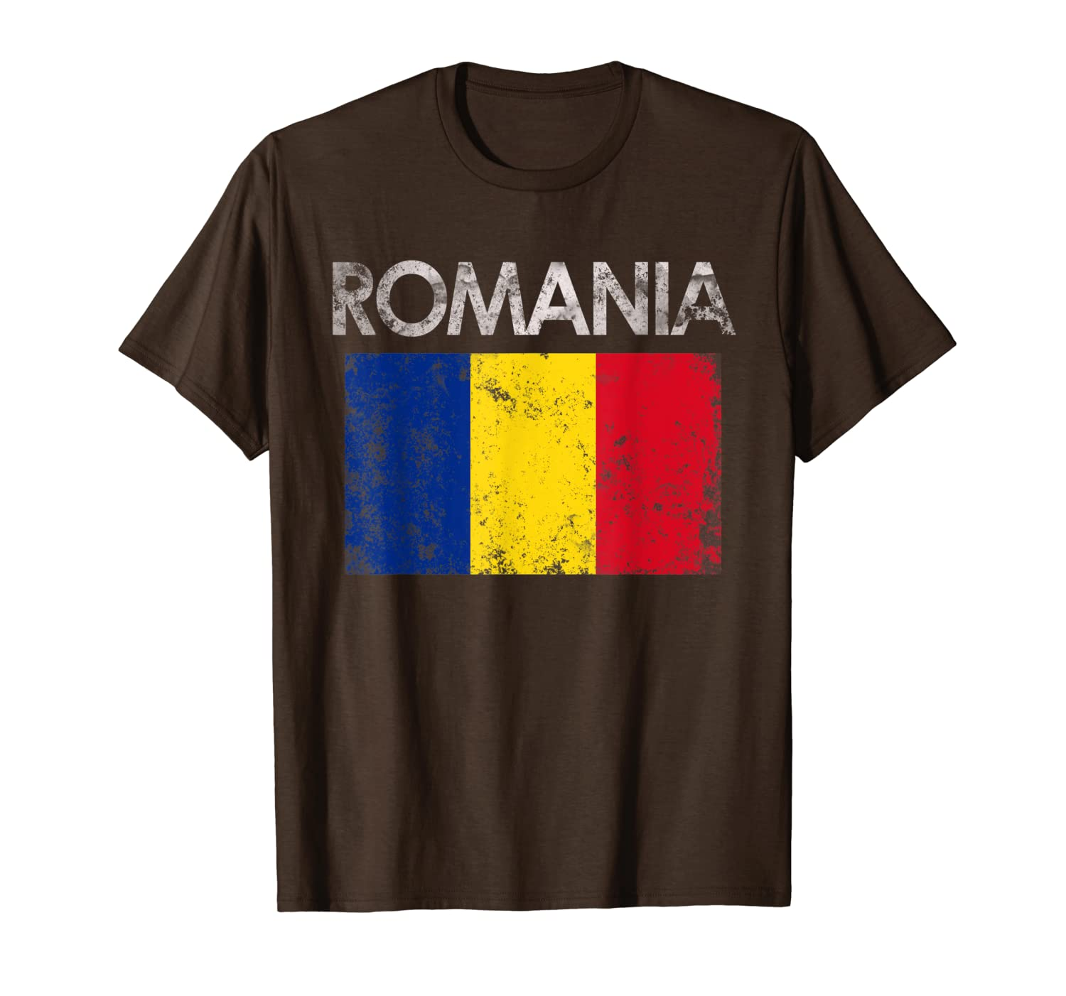 Vintage Romania Romanian Flag Pride Gift T-Shirt-TH