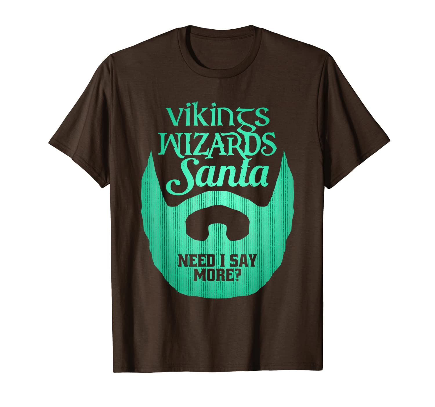 Funny Bearded Dad Christmas T-shirt Vikings Wizards Santa-TH