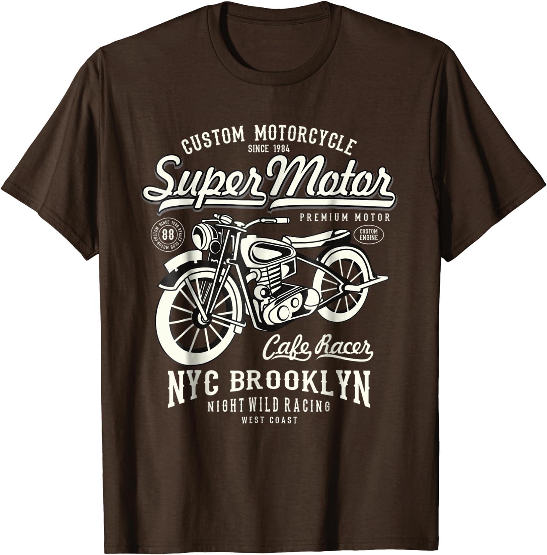 Skull Motors T shirt biker motorcycle bike S-3XL