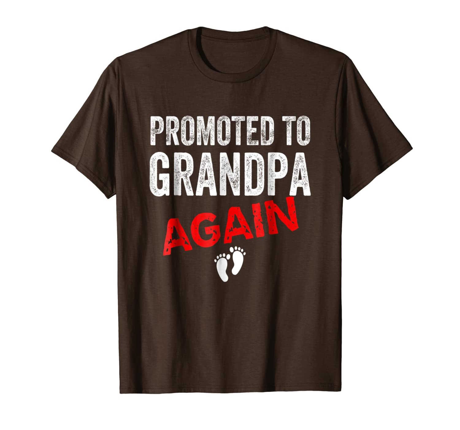 Promoted to Grandpa Again Shirt Dad Pregnancy Announcement-TH