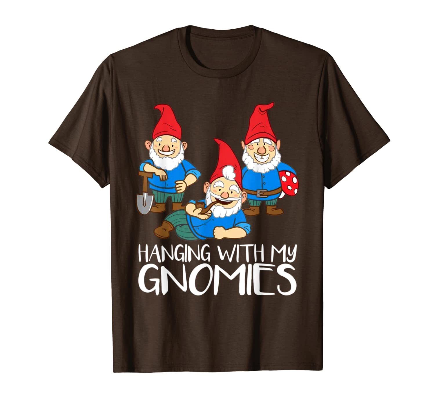 Hanging With My Gnomies Christmas Garden Gnome Fun Gifts T-Shirt-TH