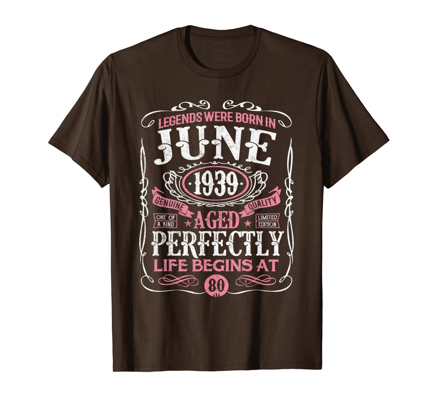 Legends Were Born In June 1939 80th Birthday Gift Shirt T-Shirt Unisex Tshirt