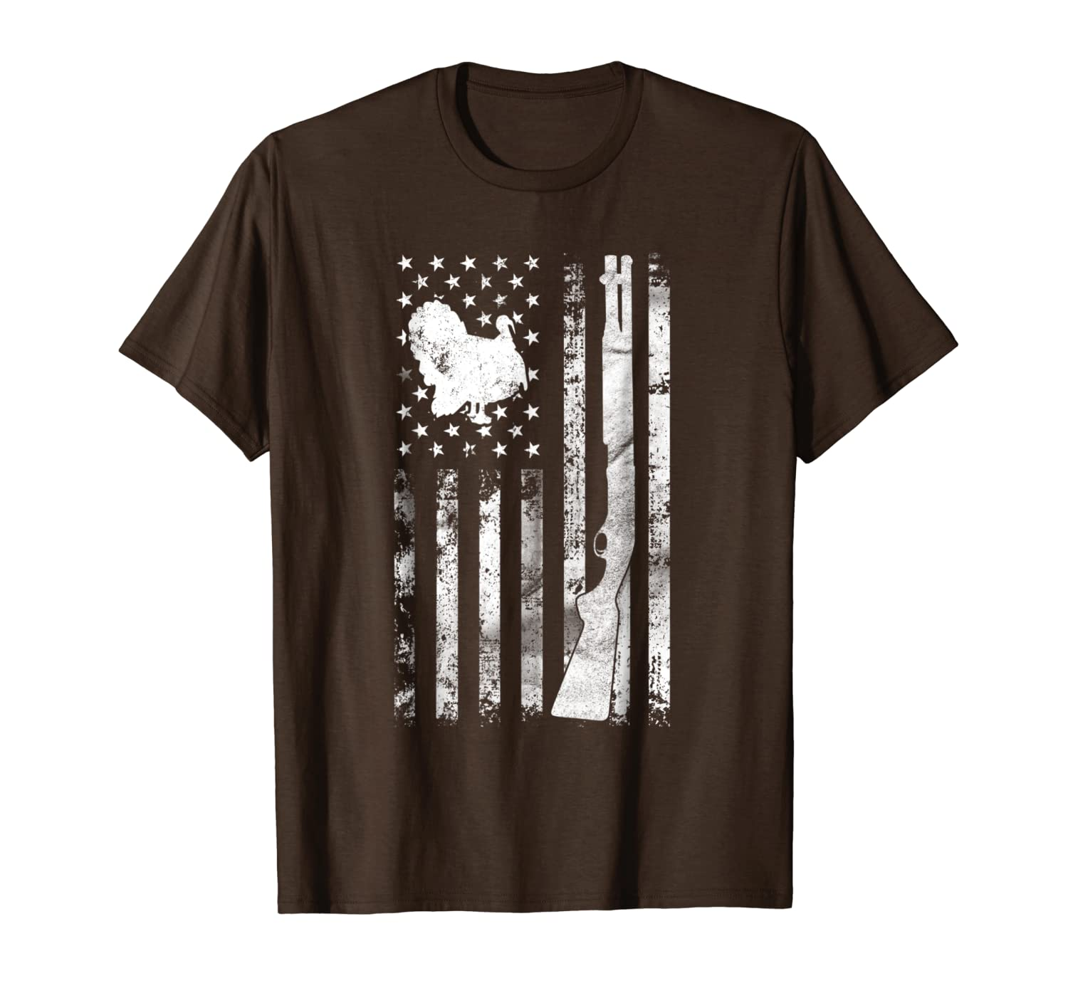 Turkey Hunting Flag T-Shirt For Hunters  Hunting Gifts Unisex Tshirt