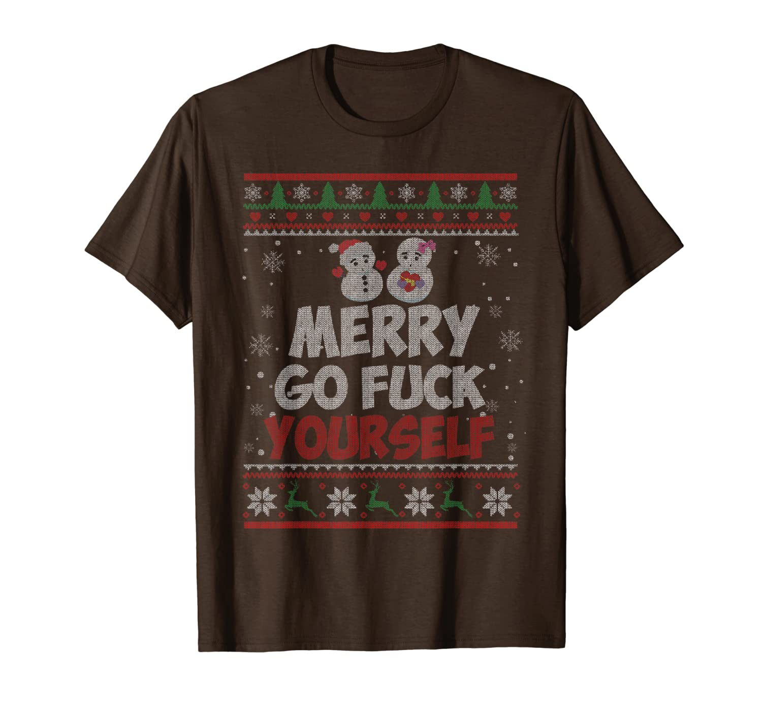 Merry Go Fuck Yourself Funny Christmas Xmas Sweater Gifts T-Shirt-TH