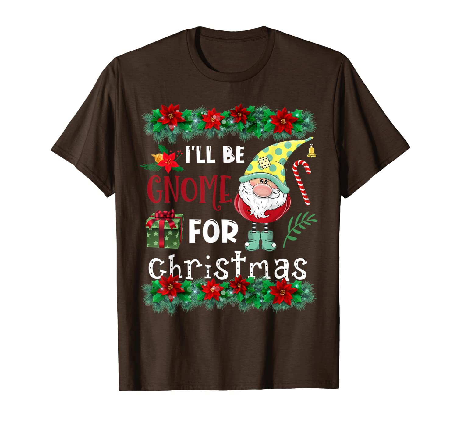 I'll Be Gnome For Christmas Gift Funny Norwegian Gnome Tomte T-Shirt-TH
