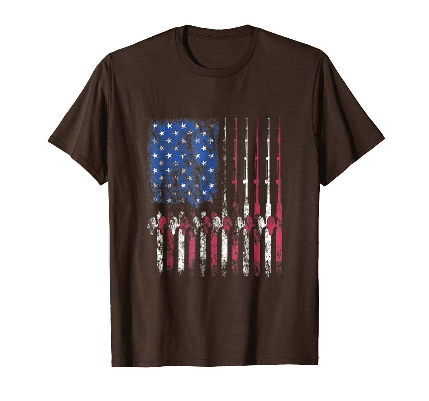 Fishing America T-Shirt American Flag Fisherman Fish Gift Unisex Tshirt