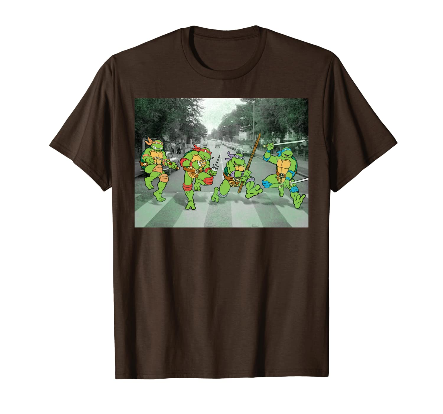 Teenage Mutant Ninja Turtles Road Crossing Parody T-Shirt