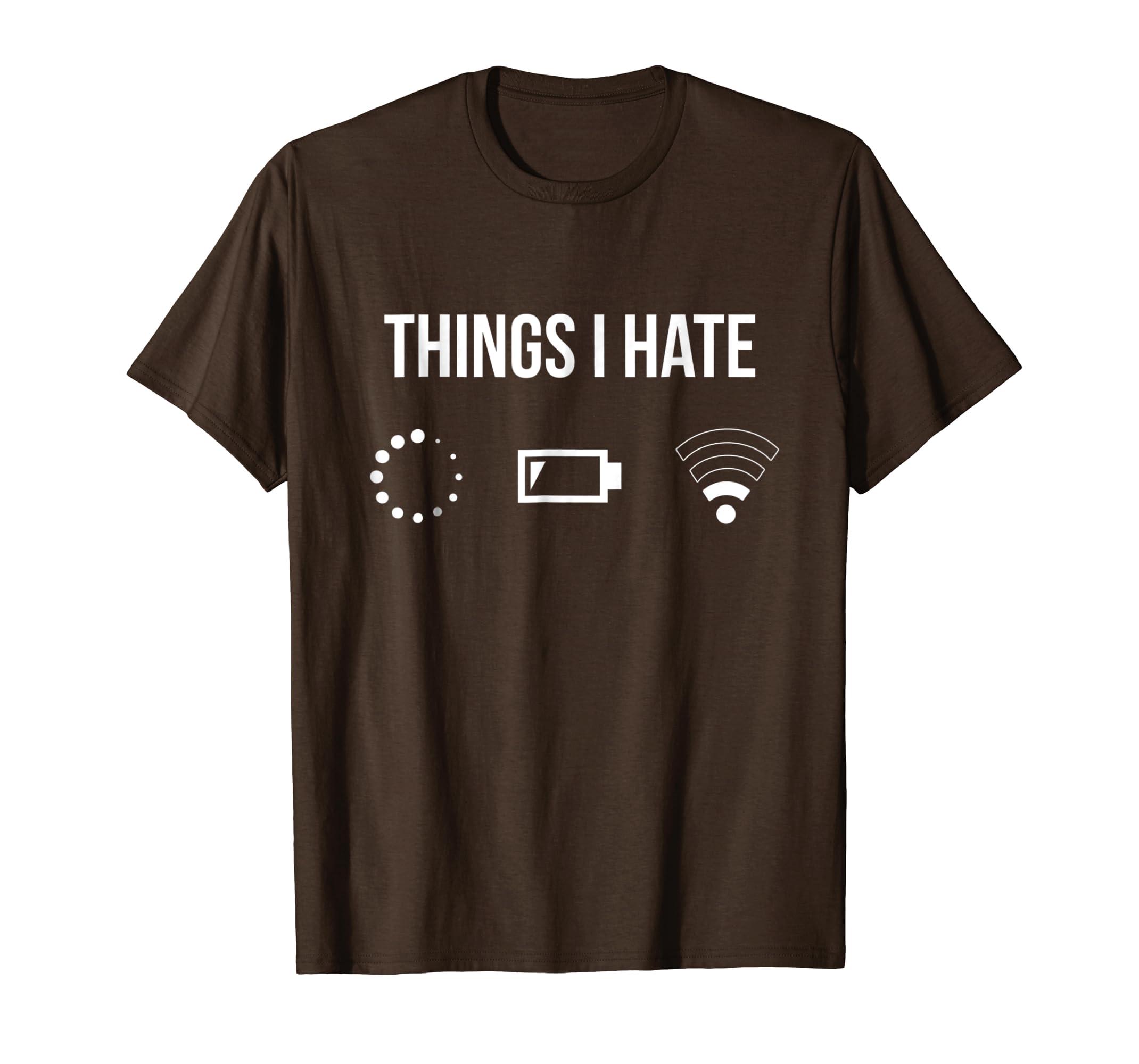 Things I Hate TShirt Programmer Gamer Fun Shirt Gift Idea-Yolotee