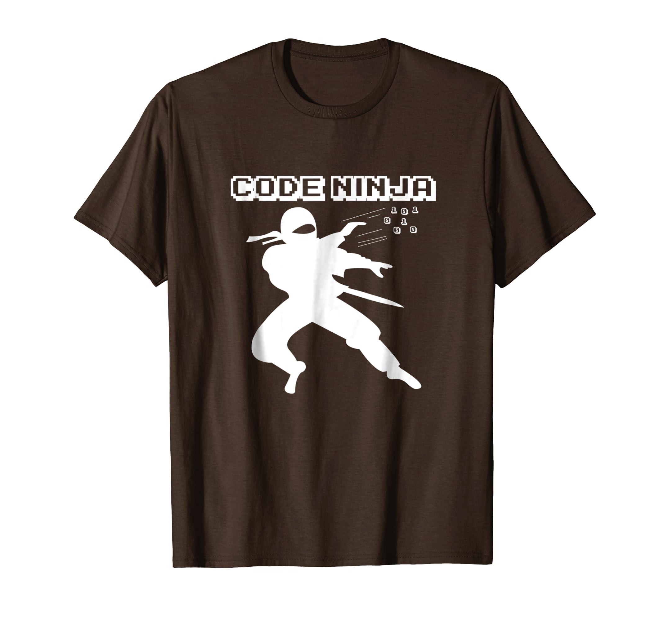 Amazon com: Computer Coding Funny Ninja Meme: Code Ninja Shirt: Clothing