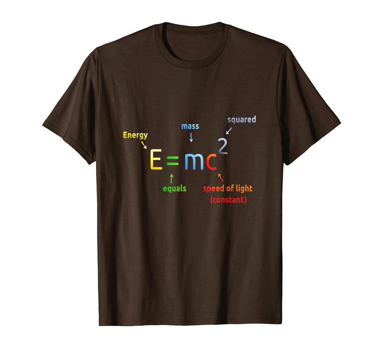 930cfb61c Amazon.com: E=mc2 Equation t-shirt: Clothing