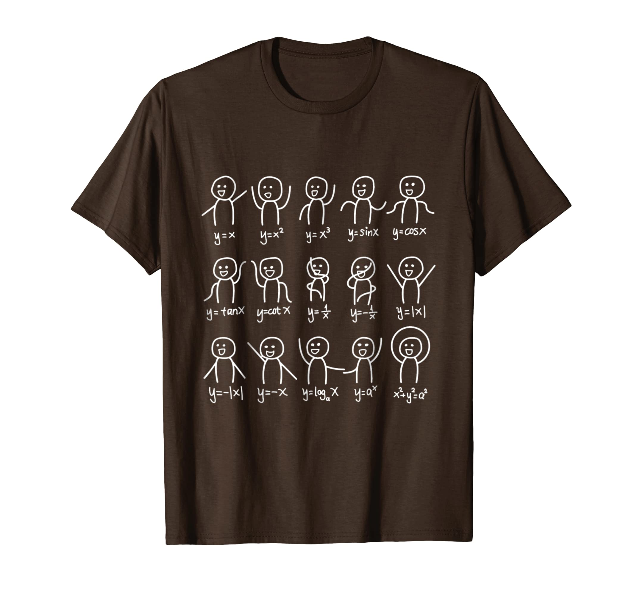 Amazon.com: Algebra Dance Funny Graph Figures Math Equation T-shirt:  Clothing