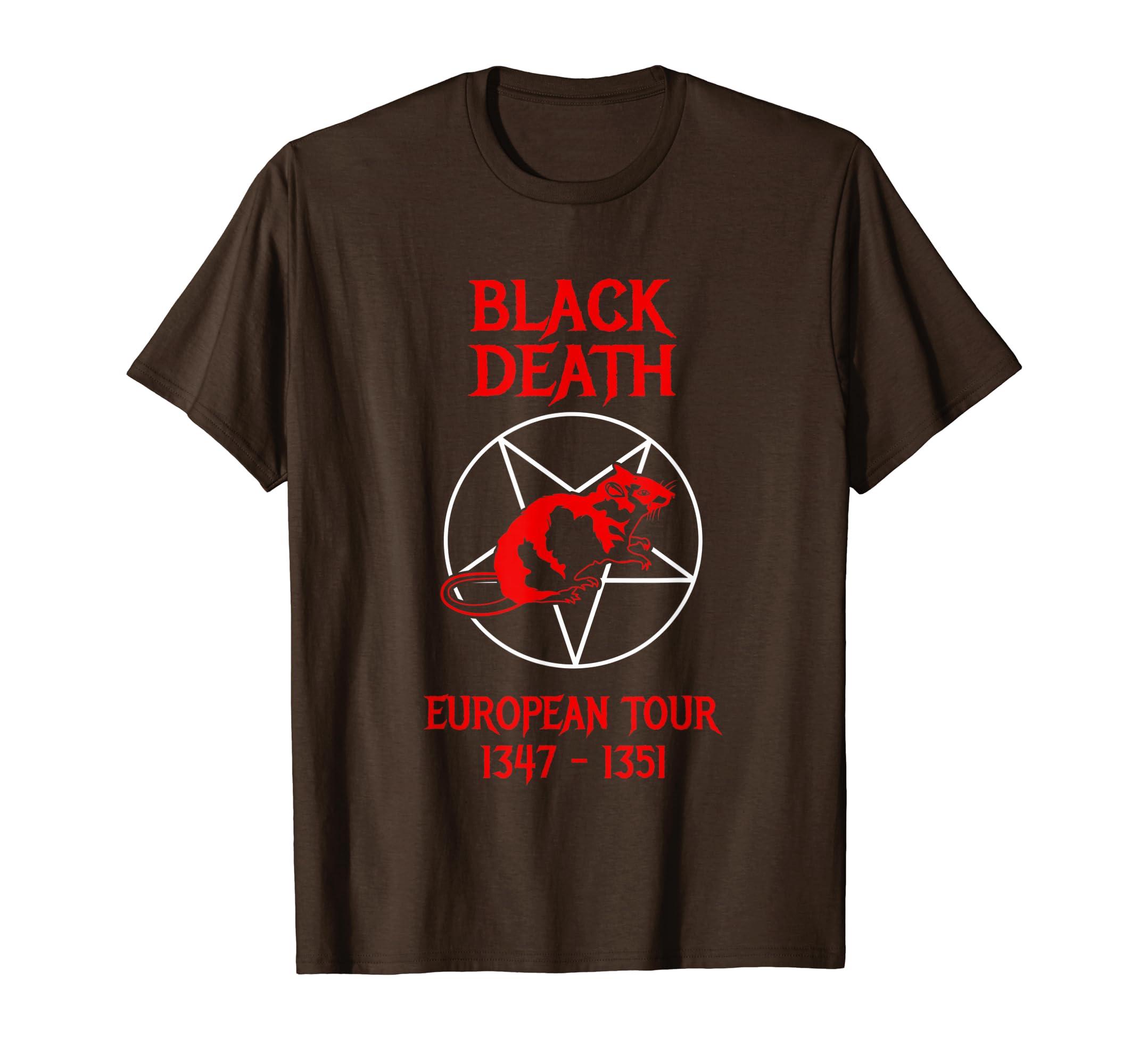 Black Death European Tour T-Shirt – Funny History-Loveshirt