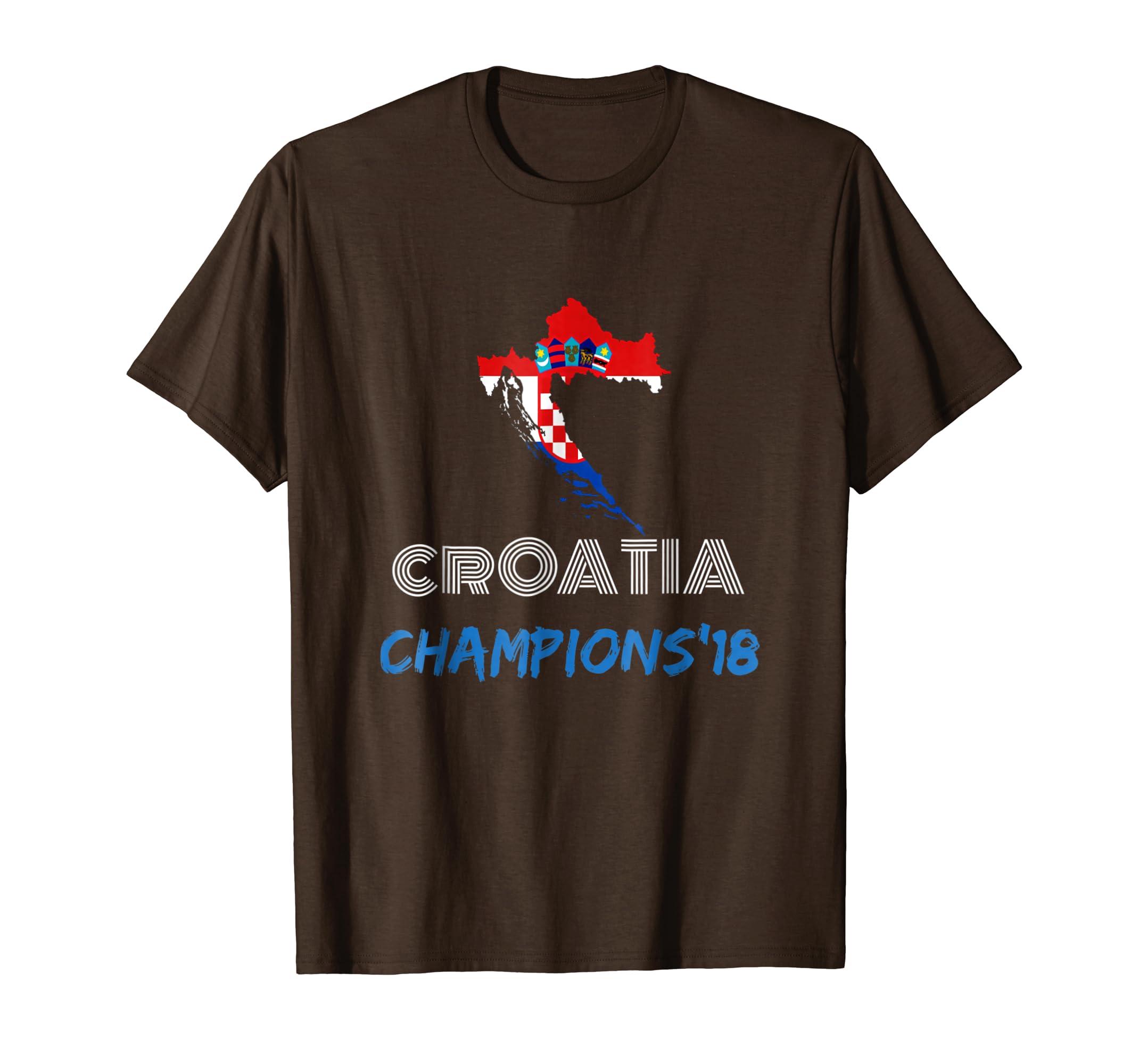 Amazon.com: Camiseta de Croacia 2018 soccer mundial campeones futbol: Clothing