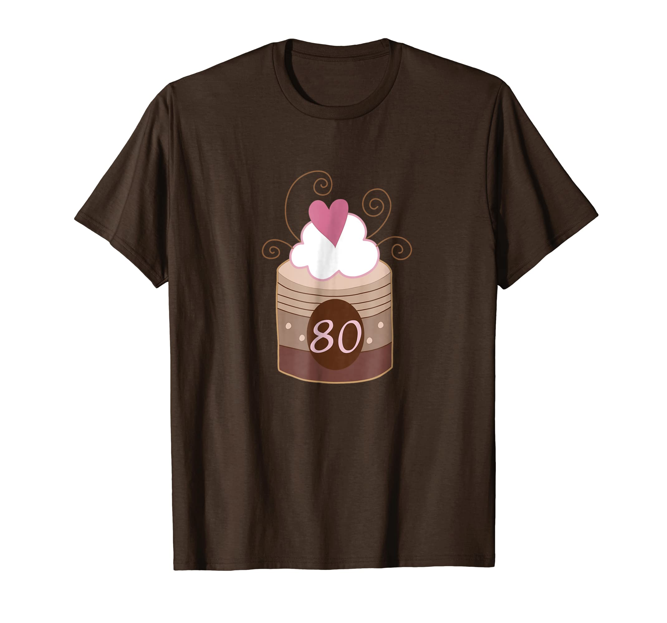 Amazon 80th Birthday Party Photo T Shirt Chocolate Cake 80 Year Old Clothing
