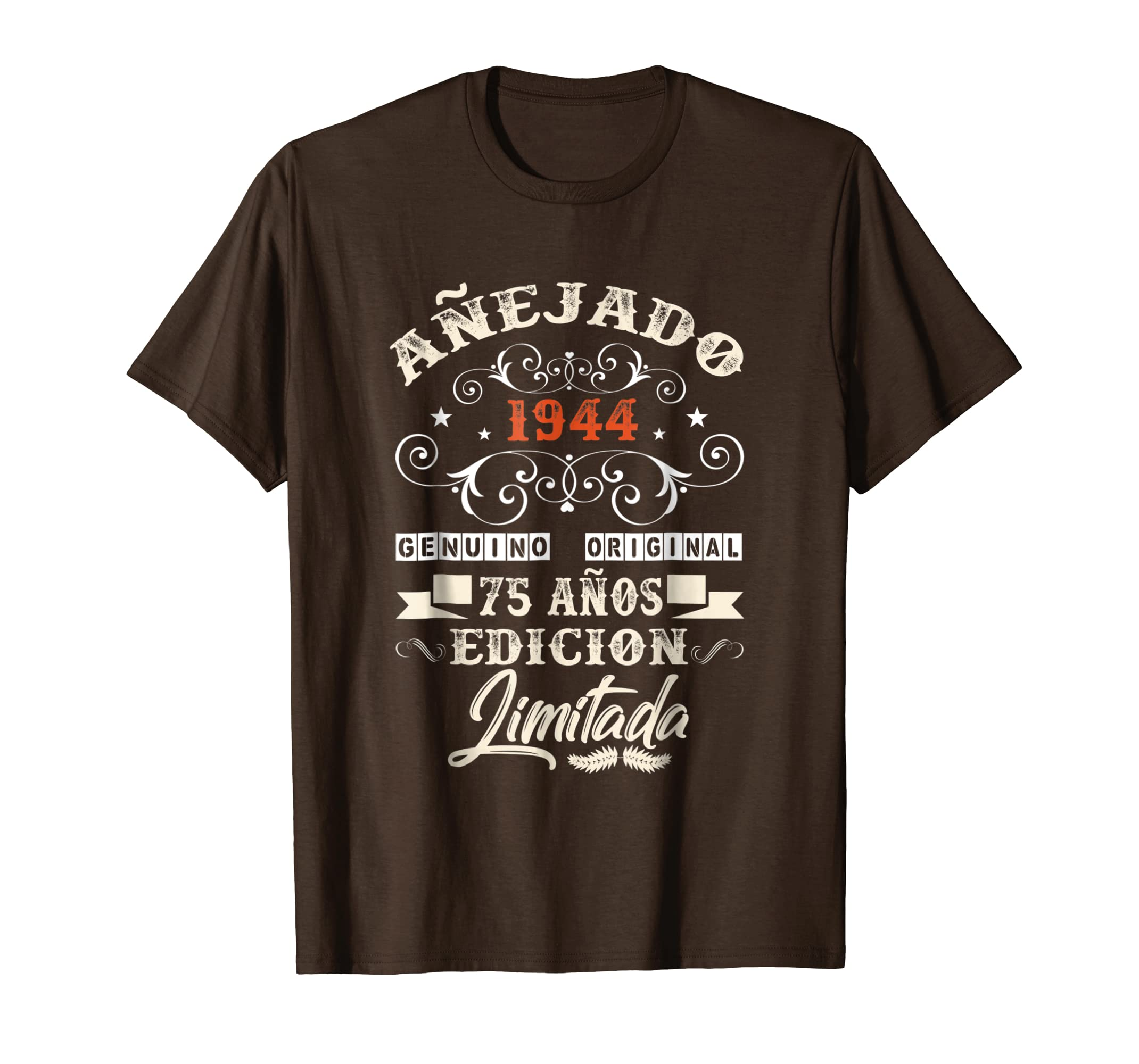 Amazon.com: Camiseta Cumpleanos 75 T-Shirt 1944 75 Anos ...