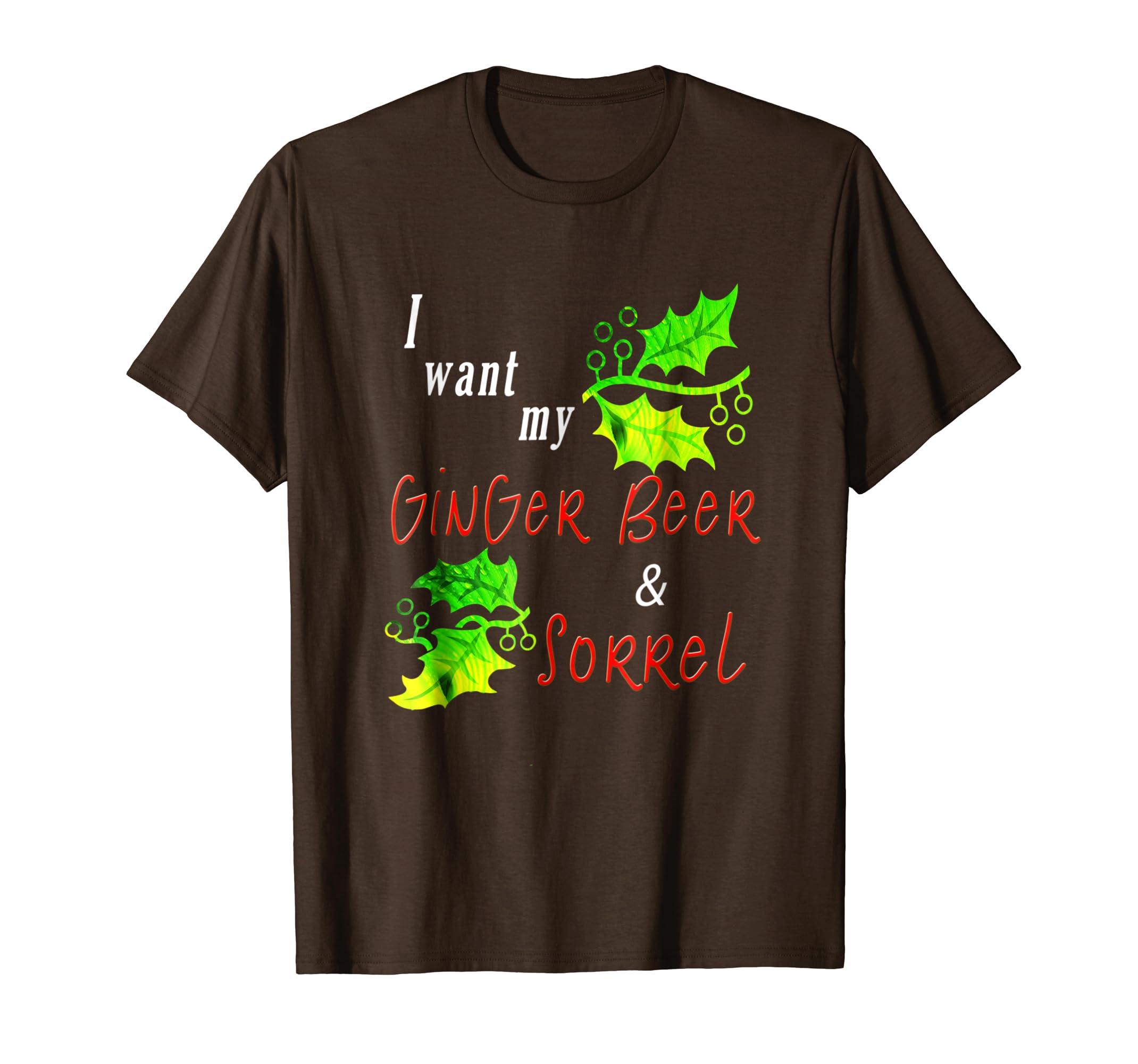 Amazon Com Trinidad Christmas Ginger Beer And Sorrel T Shirt Clothing