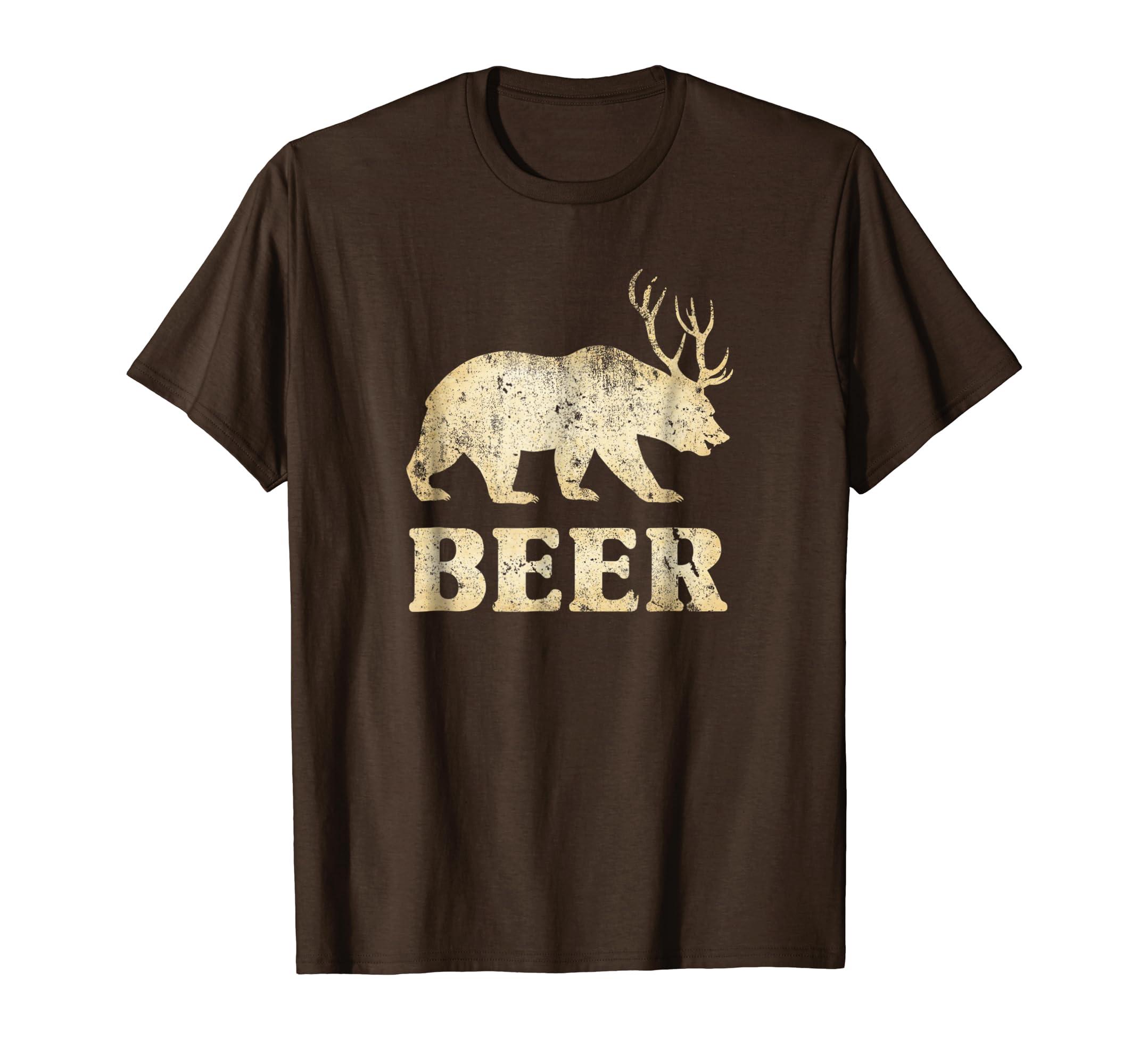 a0de9b32c Amazon.com: Bear Deer Funny Vintage T-Shirt: Clothing