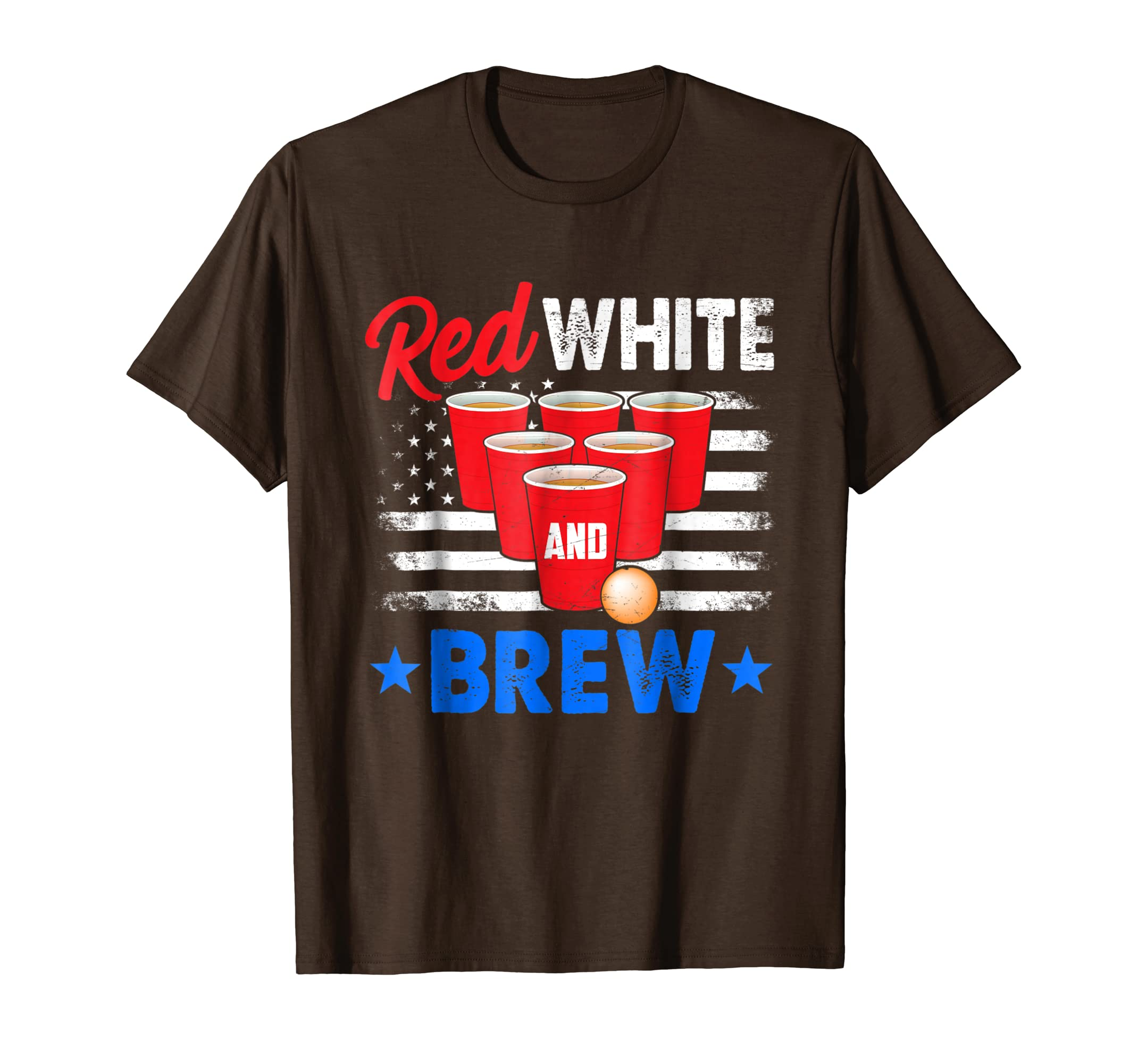 American Flag Day Beer Pong Red White And Brew T-Shirt-prm ... - photo#24