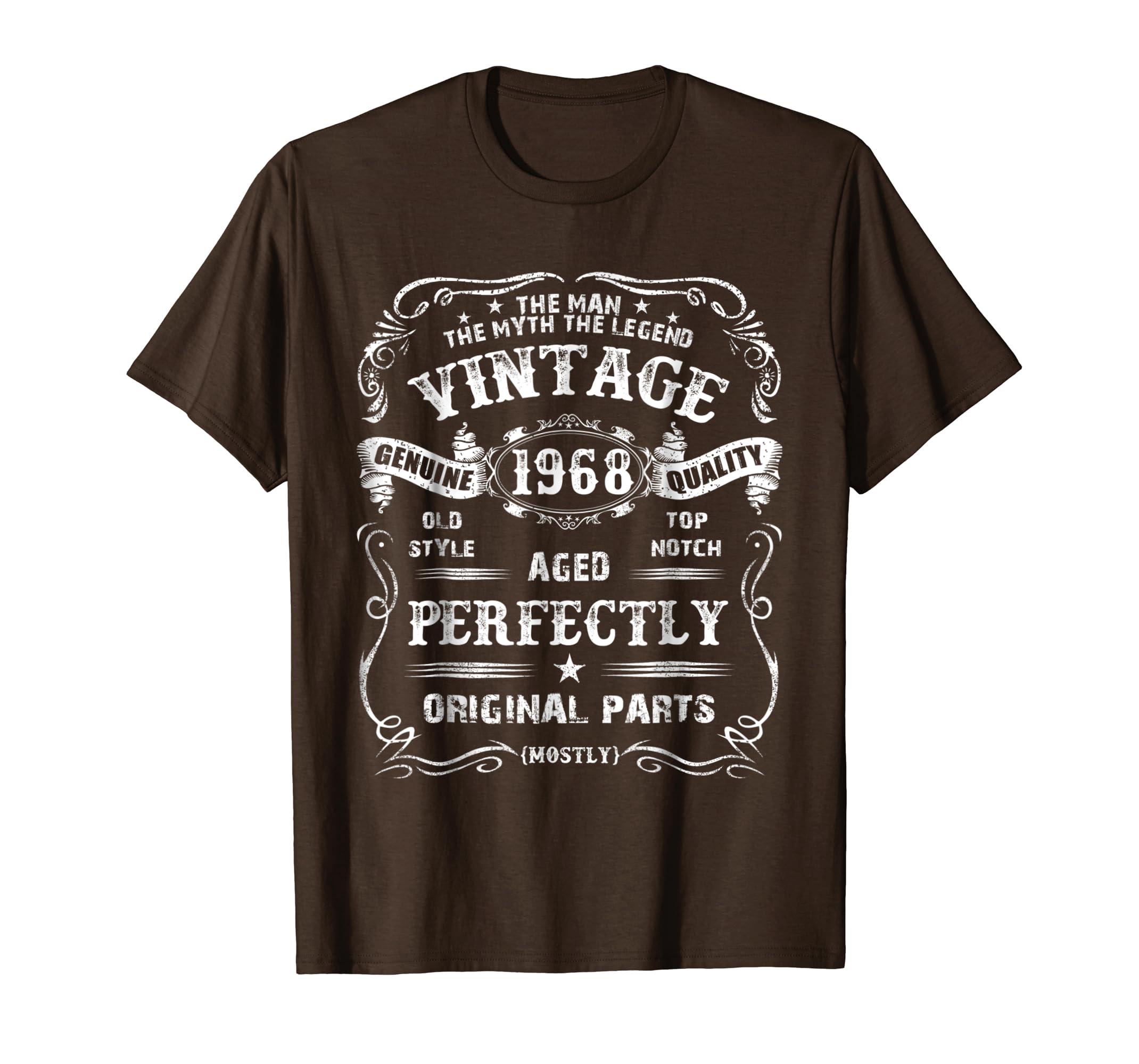 Amazon Mens 50th Birthday T Shirt Legend Vintage 1968 Original Parts Tee Clothing