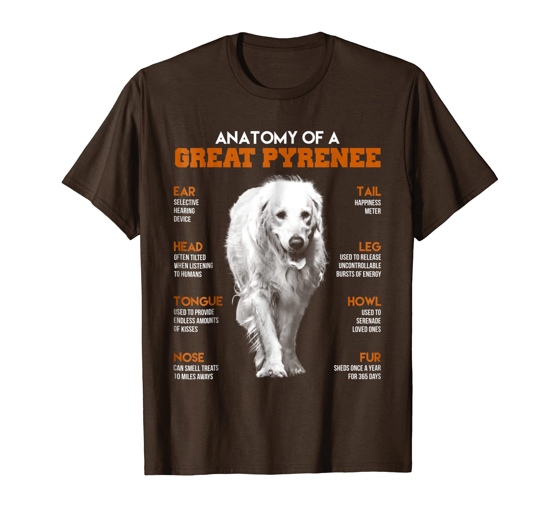 Amazon.com: Anatomy Of A Great Pyrenee Dogs T Shirt Funny Gift: Clothing