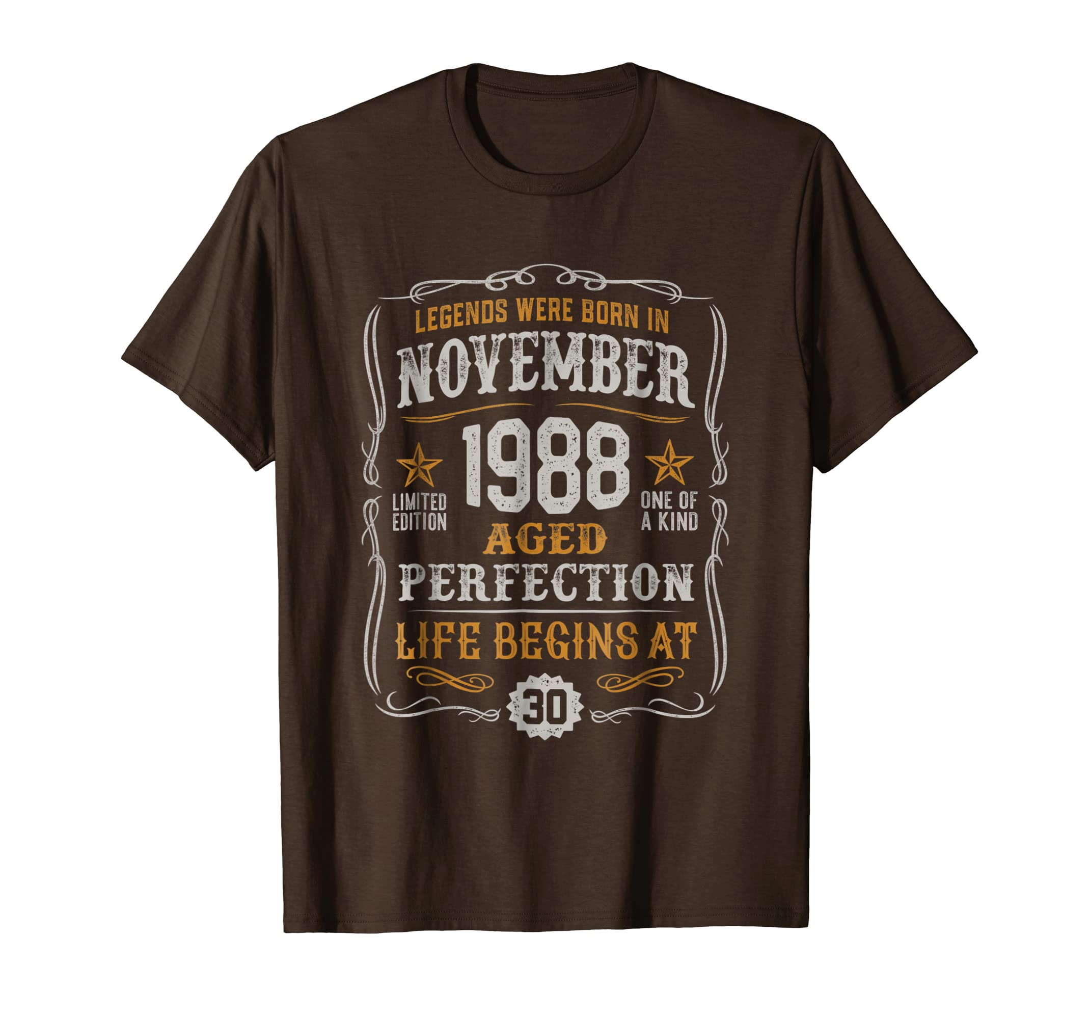 1988 November 30th Birthday Vintage T Shirt-azvn