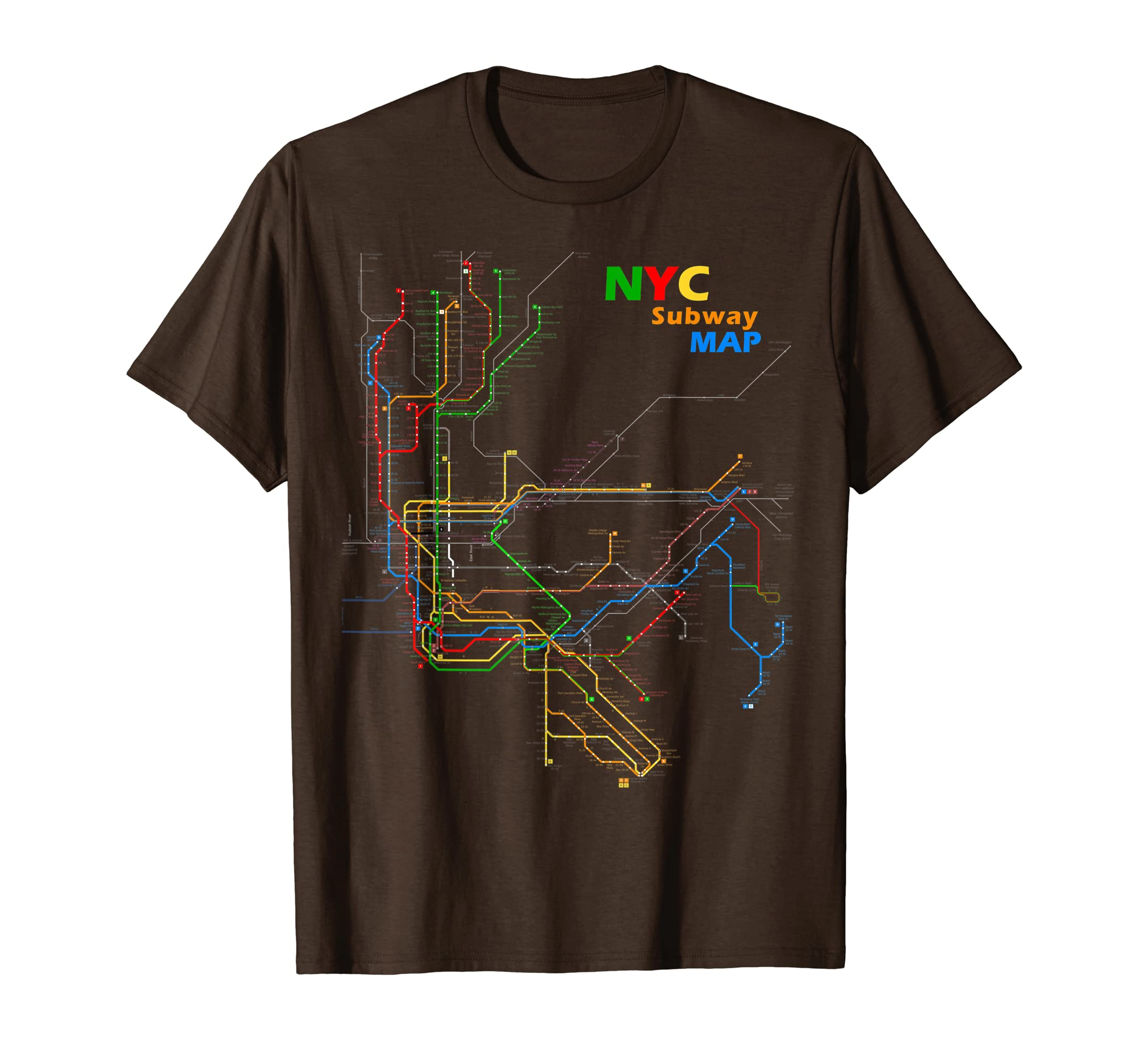 Nyc Subway Map T Shirt.Mens New York City Subway Map Design T Shirt