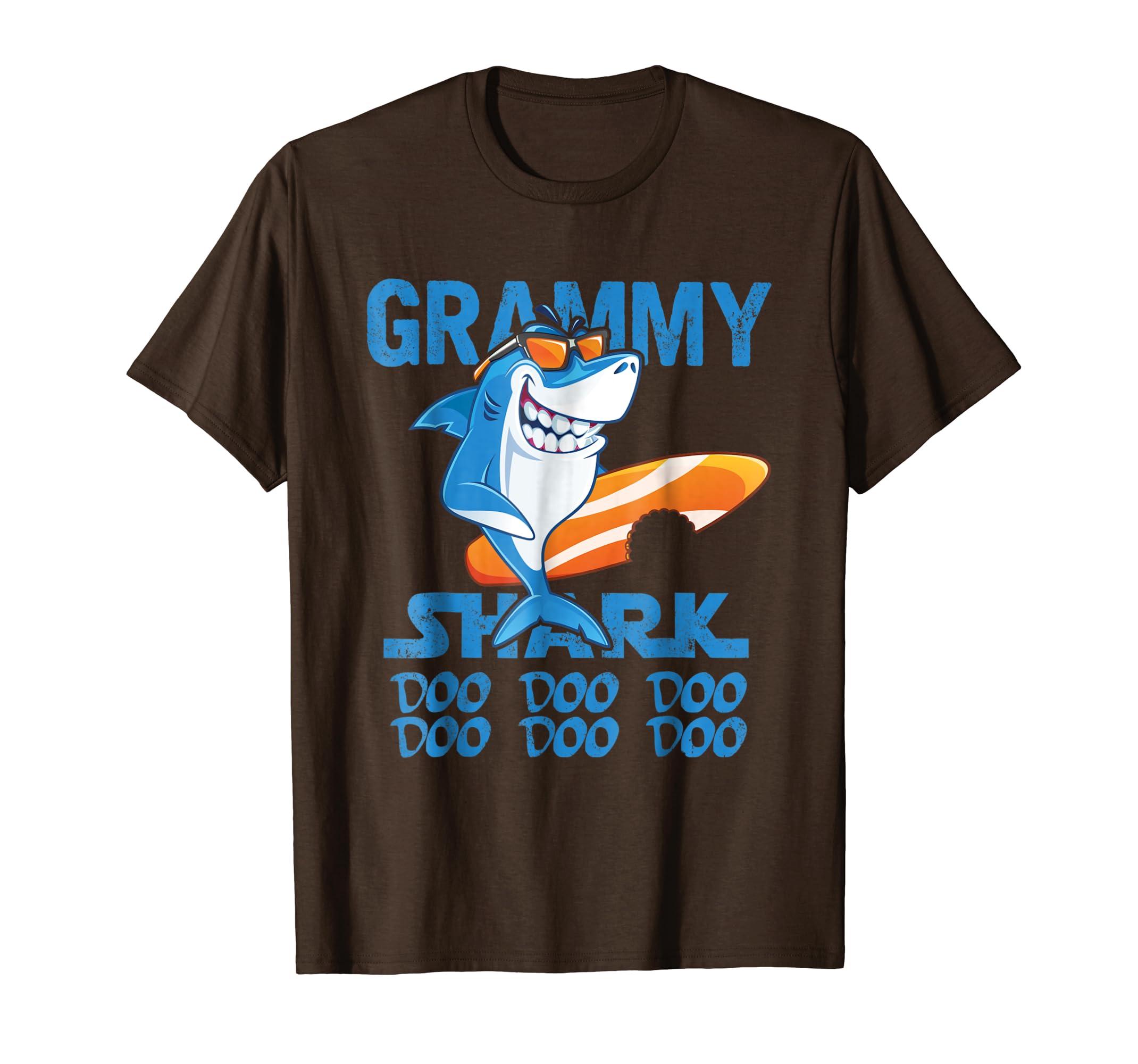 Grammy Shark Shirt Doo Doo Doo   Shark Sunglasses T shirt-Teesml
