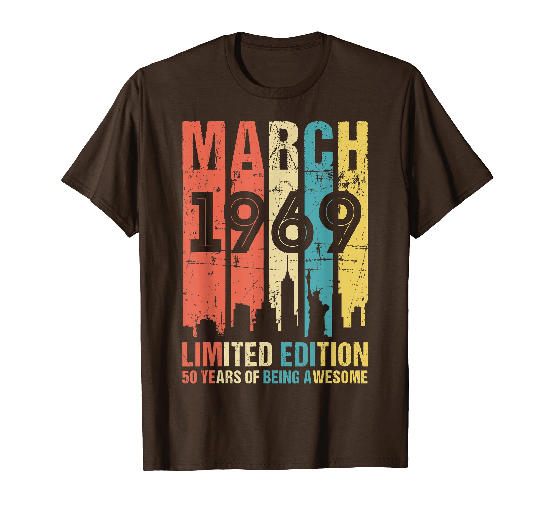 802fbad73be March 1969 T Shirt 50 Year Old Shirt 1969 Birthday Gift