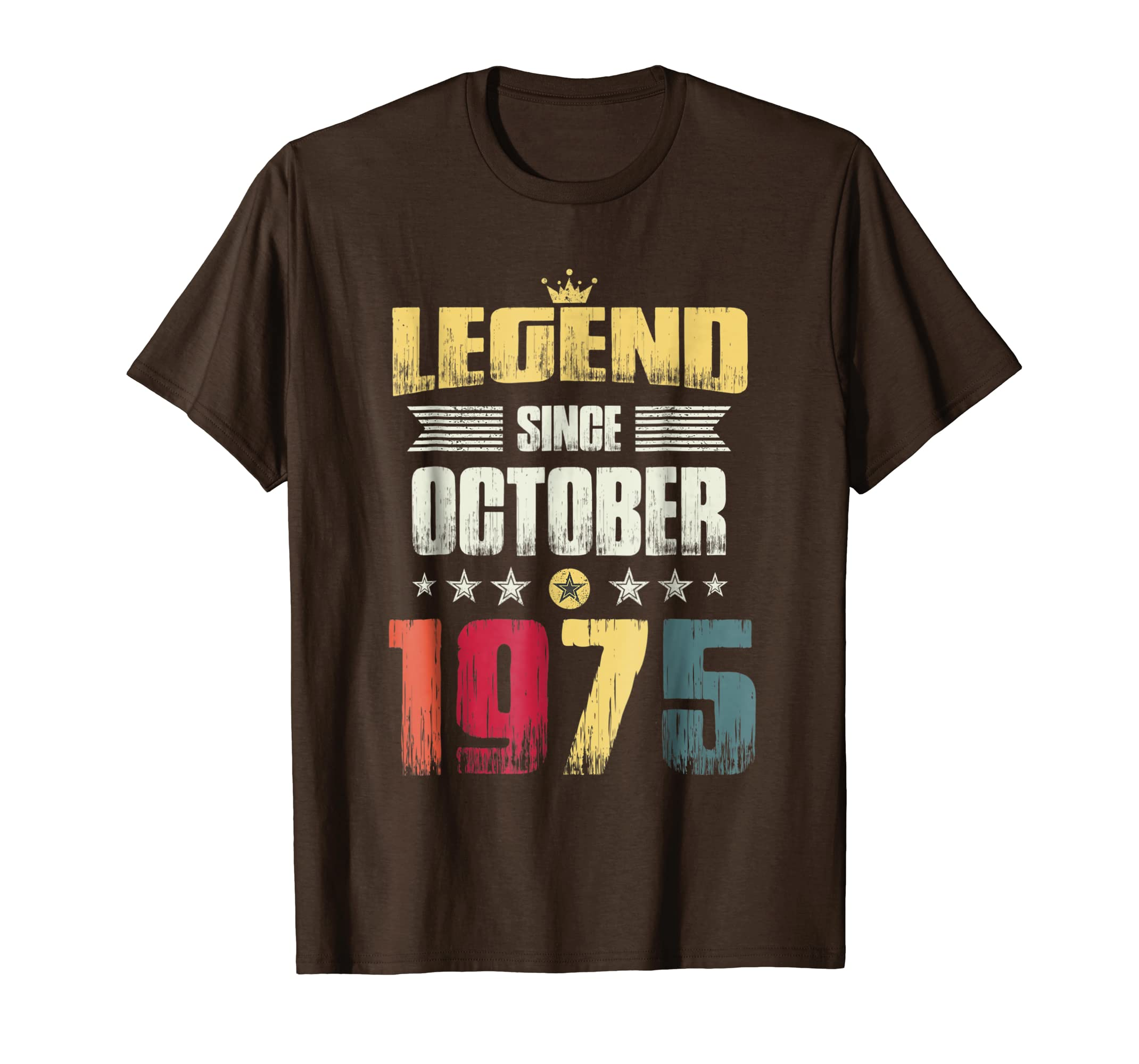 43rd Birthday Party Gift Shirt, Legend Since October 1975
