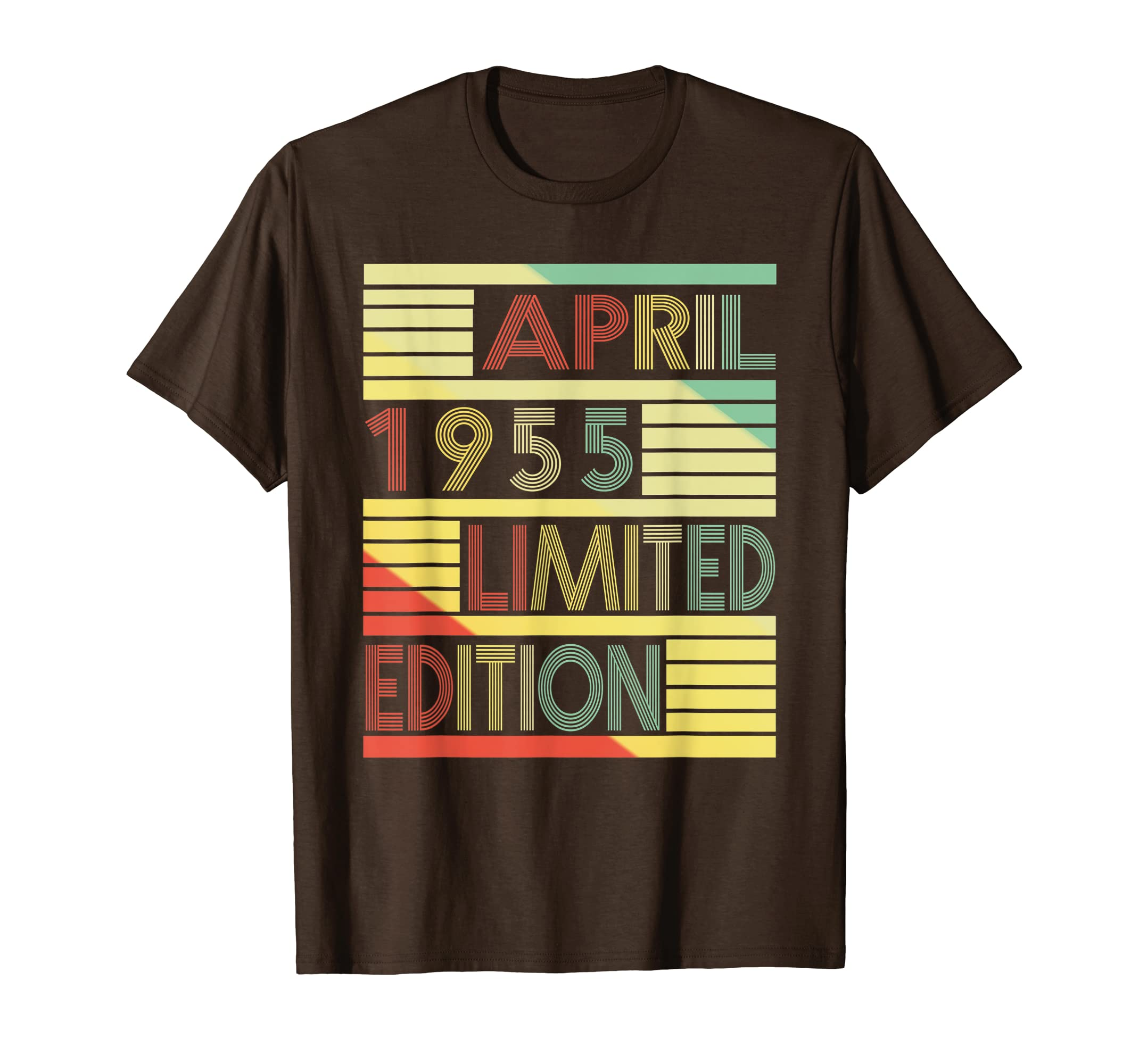 Amazon Born In April 1955 T Shirt 64th Birthday Gift For Him Her Clothing