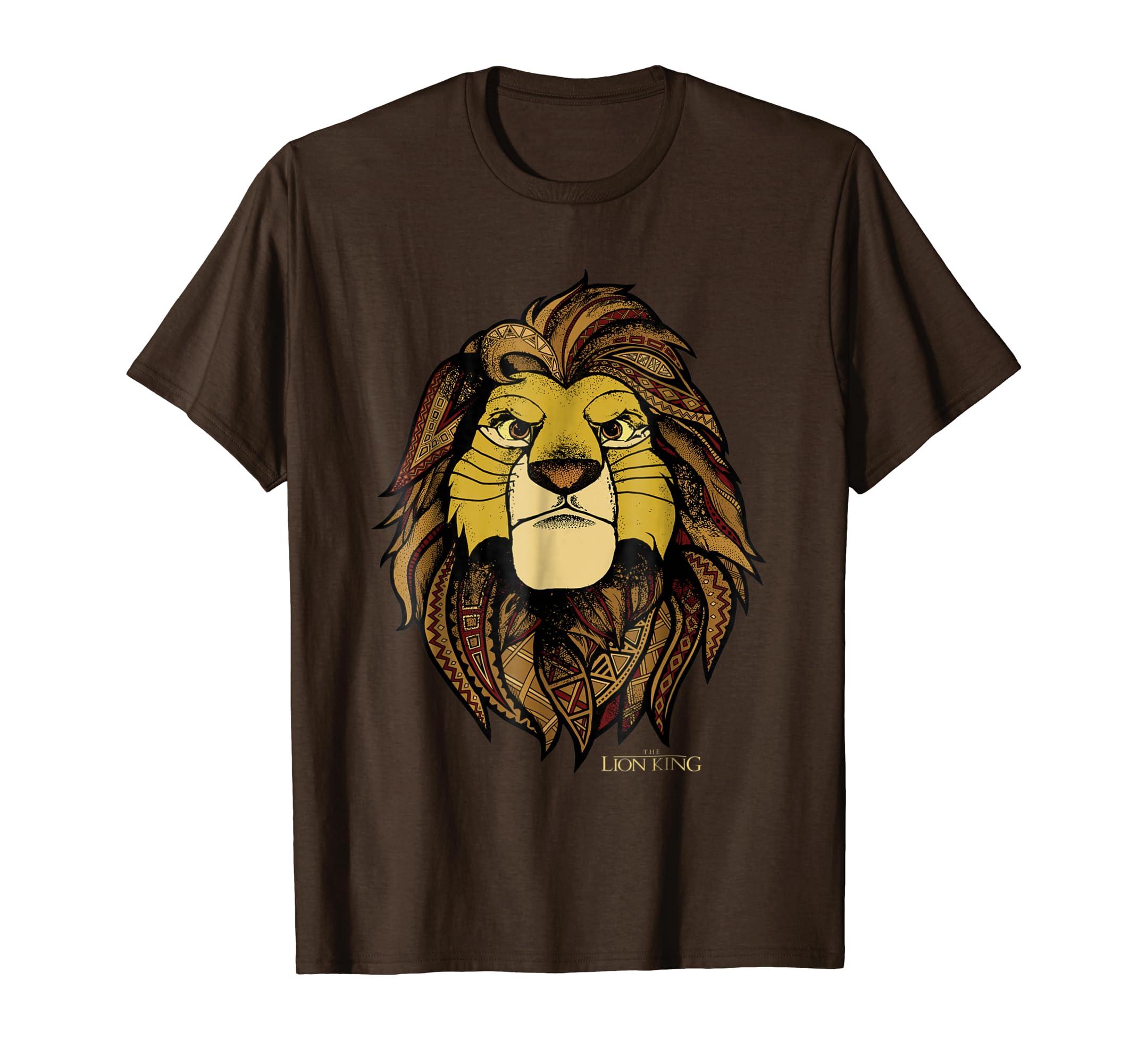 7353f667 Amazon.com: Disney Lion King Noble Simba Graphic T-Shirt: Clothing