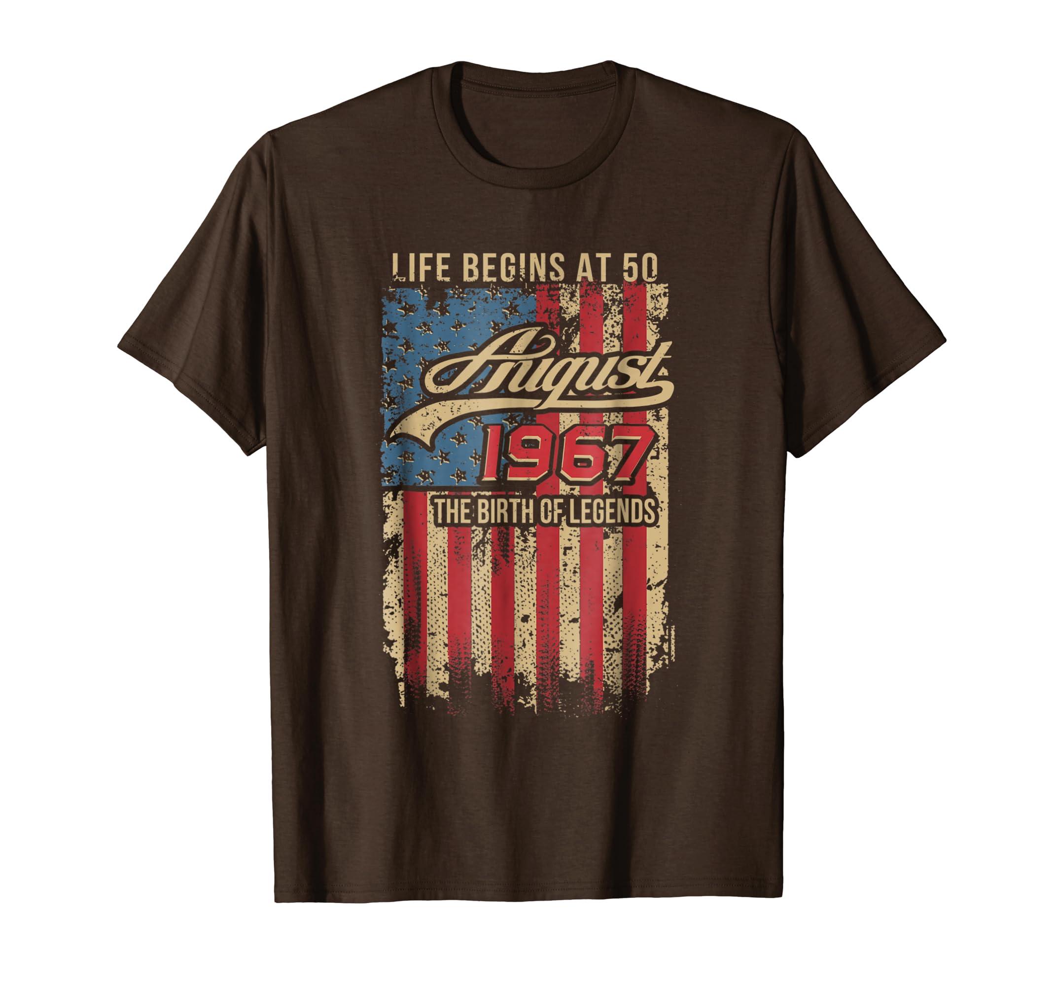 August 1967 American Flag T-Shirt, Retro 50th Gift-SFL