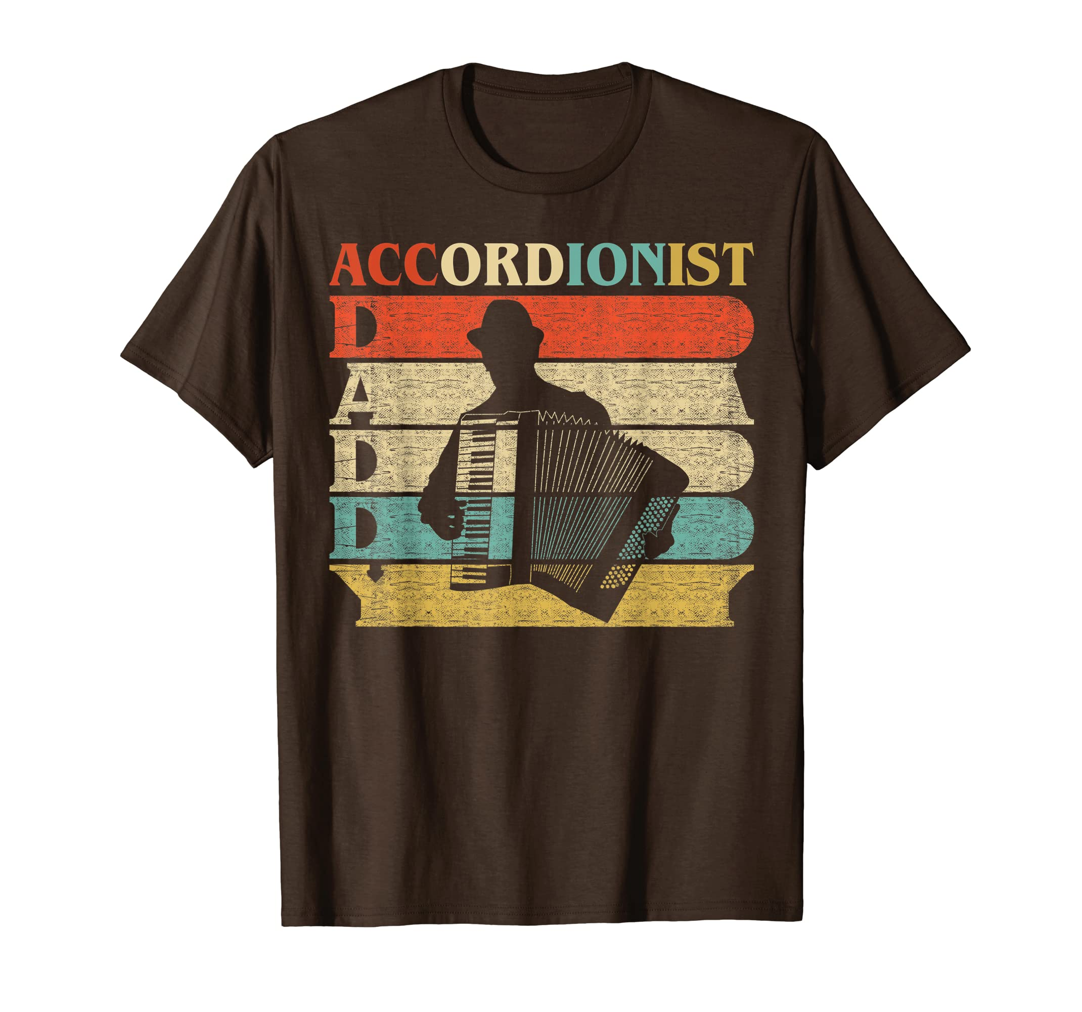 Retro Vintage Daddy Accordionist Shirt Dad/Father's Day Gift-Yolotee