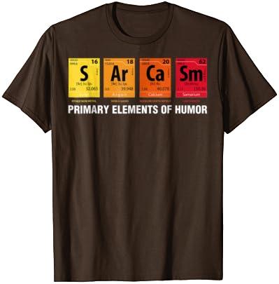 I Only Use Sarcasm Tshirt Chemist T-Shirt Periodic Table Tee Comic Shirt