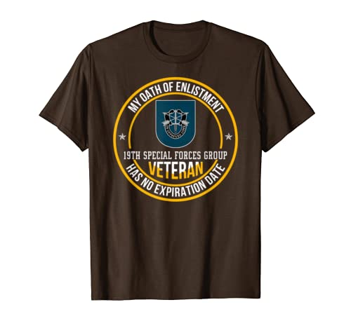 19th Special Forces Group Vet Shirt My Oath Of Enlistment