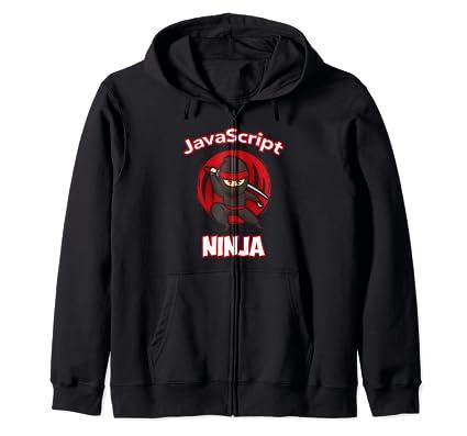 Amazon.com: JavaScript Ninja Programmer Zip Hoodie: Clothing