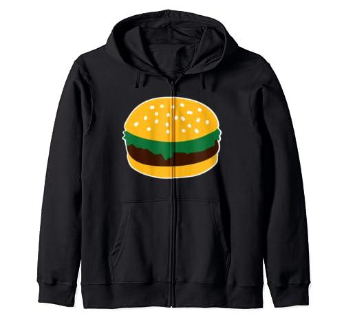Hamburger Zip Hoodie